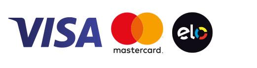 Aceitamos Visa, Mastercard e Elo